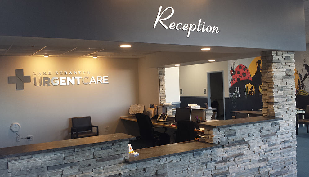 Lake Scranton Urgent Care Reception Desk